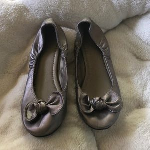 Silver Flats with Bows